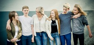 Mentor-Gruppe-Lehrer